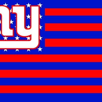 New York Giants USA NFL Premium Team Football Flag NY Hot sell goods 3X5FT 150X90CM  brass metal holes,free shipping