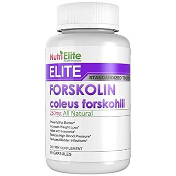 NutriElite Pure Forskolin Extract For Weight Loss - 500 mg Of Coleus Forskholii Daily - Ultra Fat Burner And Belly Buster Supplement - Each Pill Has 250 mg - Pills Work For Men & Women