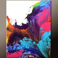 Abstract Art Canvas Painting 18x24 Contemporary Art Paintings by Destiny Womack - dWo - Euphoria