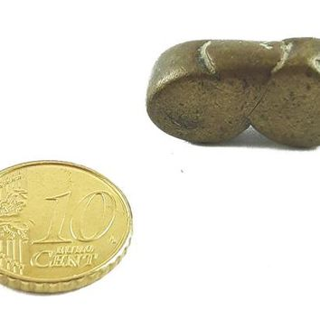 African Charms / Akan gold Weight - Round Form / Trinket, unique good luck charm / Akan people old curency / African art