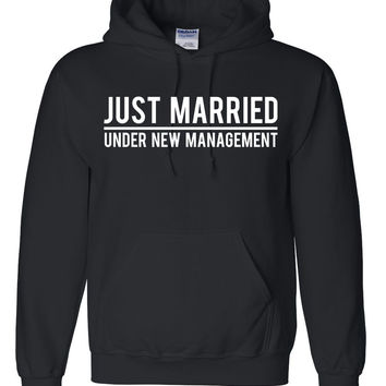 Just married under new management hoodie  wedding gift ideas