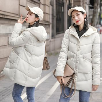 Parkas Women Winter Coats Long Casual Hooded Jackets Women Thick Warm Winter Parkas Female Overcoat Coat 2019