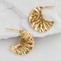 Small Gold Textured Hoop Earrings