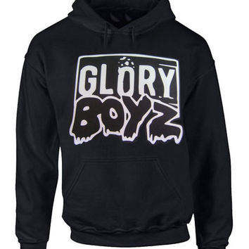 GLORY BOYZ BLACK HOODIE SWEATER GBE Chief Keef Sosa Reese Bang Bang 300