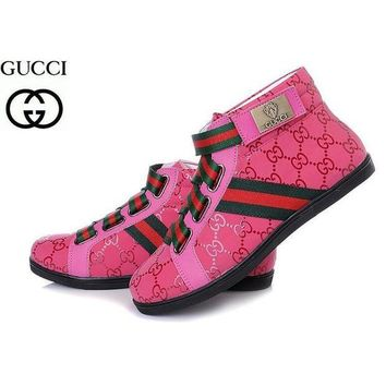 GUCCI Women's Fashion High Top Quality Sneakers F