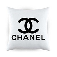 Chanel White Design Pillow Case Two Side (20 x 20 Inches)