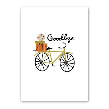 Goodbye Bicycle Card