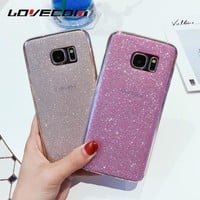 Luxury Glitter Powder Soft TPU Protective Mobile Phone Case For Samsung Galaxy S8 S8 Plus S7 S7 Edge S6
