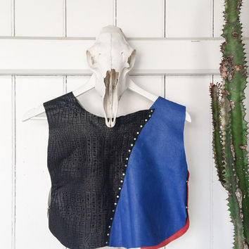American Outlaw Leather Crop Top