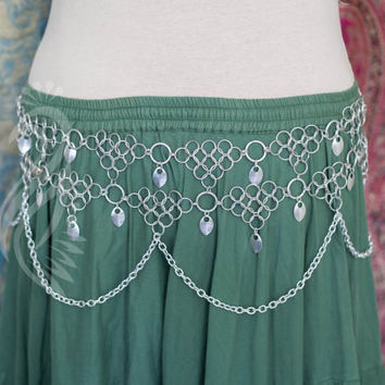 Tribal Belly Dance Aluminum Chain Mail Belt