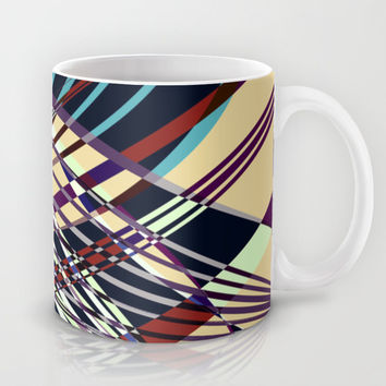 SWEEPING LINE PATTERN I-E Mug by Pia Schneider [atelier COLOUR-VISION]