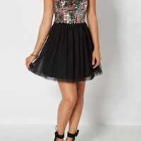 Iridescent Sequin Tulle Dress | Mini Dresses | rue21