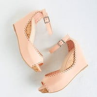 ModCloth Pastel Sweetheart And Sole Wedges