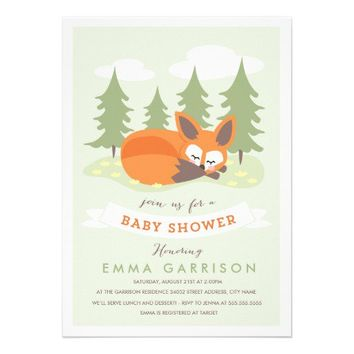Little Fox Baby Shower Invitation from Zazzle.com