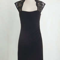 LBD Mid-length Cap Sleeves Bodycon Red Carpet Coverage Dress