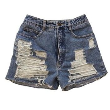 Summer Sky Low Rise Distressed Denim Cutoff Shorts Gap Jeans Shredded