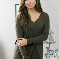 Sweet Wishes Sweater- Olive