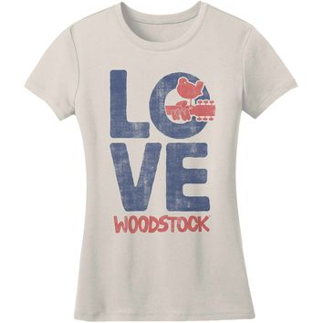 Woodstock  Love Junior Top Ivory