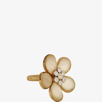 Opaque Flower Ring