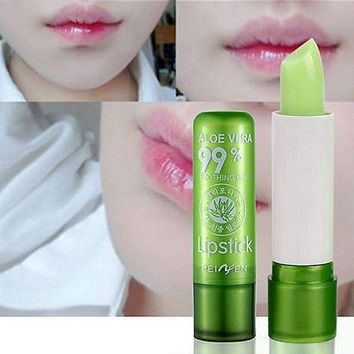 1PC Moisture Melt Lip Balm Long Lasting Change Color Lipstick Aloe Lip Gloss HU