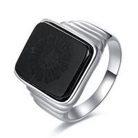 The Great Gatsby Black Onyx Sterling Silver Ring