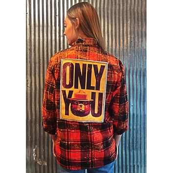 """Smokey Bear """"ONLY YOU"""" Flannel"""