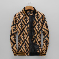FENDI 2018 autumn and winter new casual personality wild men's jacket
