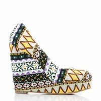 tribal round-toe wedges $24.20 in BROWN GREEN - Wedges | GoJane.com