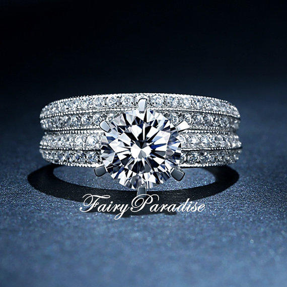 deco 2 pcs wedding rings set 2 ct from fairyparadise