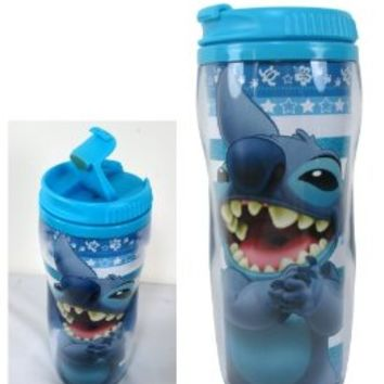 Blue Lilo and Stitch Travel Thermos - Stitch Travel Mug