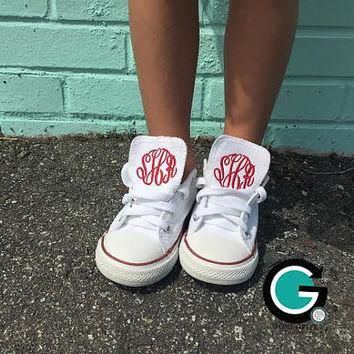 CUSTOM Children's Monogrammed Converse Shoes--- Makes the PERFECT gift!!