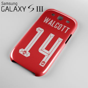 Theo Walcott Jersey 14 Case For Samsung Galaxy S3, S4, S5, S6, S6 Edge