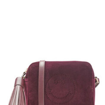 Smiley Velvet Shoulder Bag - Anya Hindmarch | WOMEN | US STYLEBOP.com