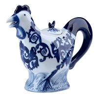 Bombay Rooster Teapot (Blue)
