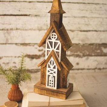 Recycled Rustic Wooden Church