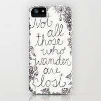 Those who wander iPhone Case by Studio 502