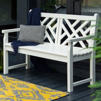POLYWOOD® Chippendale Recycled Plastic 4 ft. Bench | www.hayneedle.com