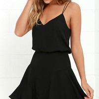 Wanna Bet? Black Sleeveless Dress