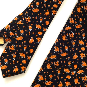 Floral Necktie and Pocket Square Set, Wedding Necktie, Man Necktie, Mens Necktie