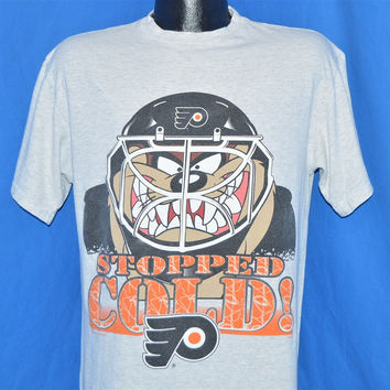 90s Philadelphia Flyers Taz Looney Tunes Goalie t-shirt Medium