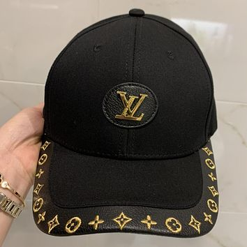 LV new patchwork embroidered hat brim spring and summer baseball cap
