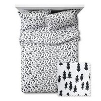 Forest Sheet Set - Full - 4 pc - Black&White - Pillowfort™