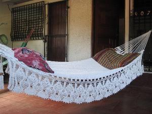 Beige Double Hammock handwoven Natural Cotton by hamanica on Etsy