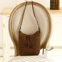 Simple Design Tassels Woven Beach Bag [6580667015]