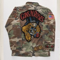 Guns N' Roses Skull Custom Military Jacket