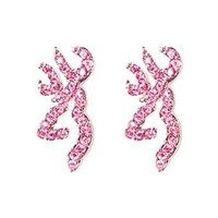 Browning Buckmark Pink Bling Earrings