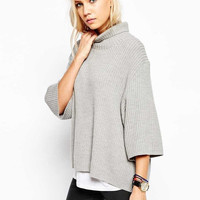 Poncho Casual Knit Sweater