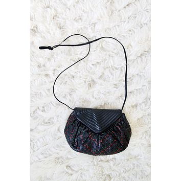 Vintage Petite Quilted Woven Leather Bag