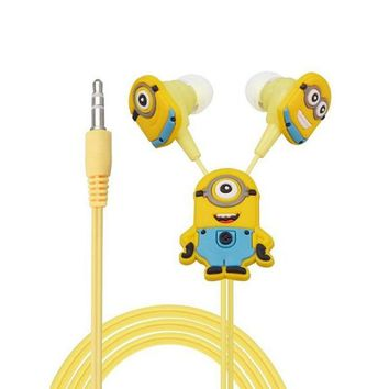 Despicable Cartoon In-ear Wired 3.5 mm Jack Earphone