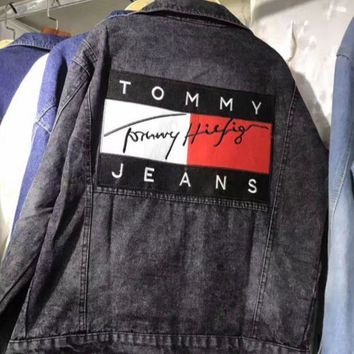 Tommy Hilfiger Denim Cardigan Jacket Coat